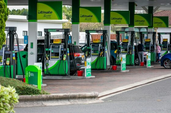 Queues outside Tayside and Fife petrol stations as drivers urged 'don't panic buy'