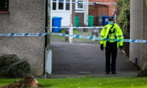 A police cordon was put in place on Tuesday morning