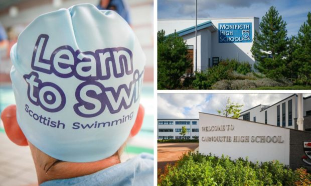 Monifieth and Carnoustie High School pools remain closed to the public.