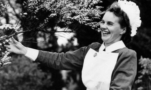 Sister Agnes (Nan) Dunsire at Perth Royal Infirmary in 1955.