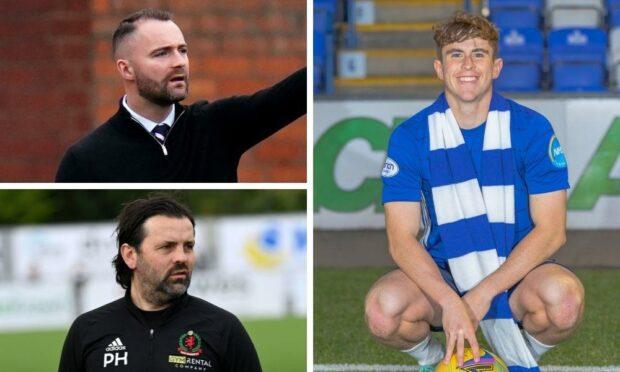 James McPake, Paul Hartley and Fin Robertson.