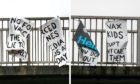 coronavirus vaccine banners in Glenrothes