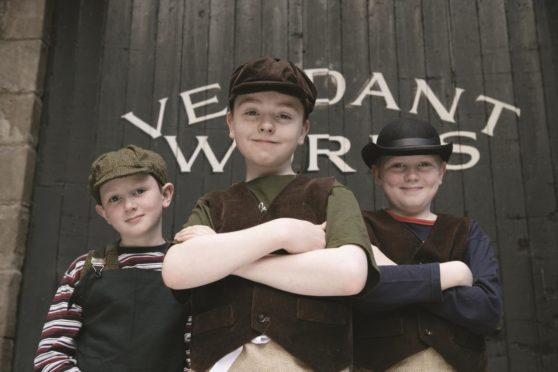 Children get to see what life was like in a mill at Verdant Works.