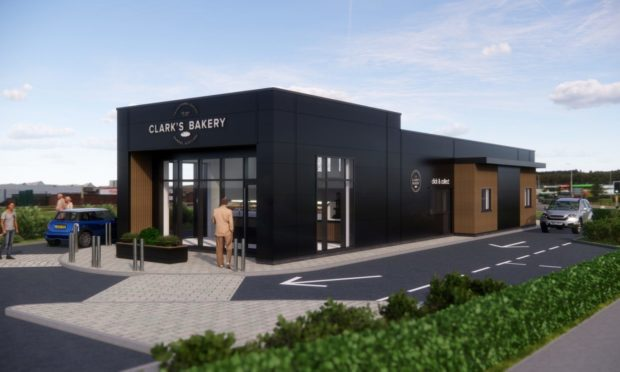 Proposal for new Clark's drive-thru bakery