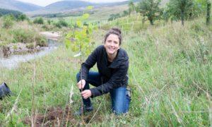 Rural affairs secretary Mairi Gougeon in Glen Clova.