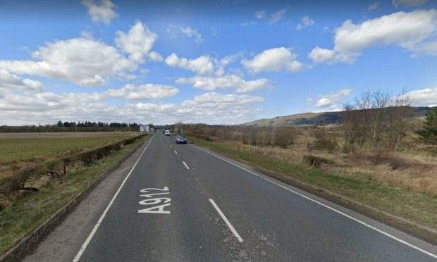 Motorists have been told to take caution due to a fuel spillage on the A912 in Perthshire.