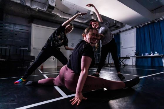 Dancers at Dundee Rep and Scottish Dance Theatre