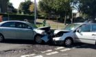 Two vehicles were involved in the crash.
