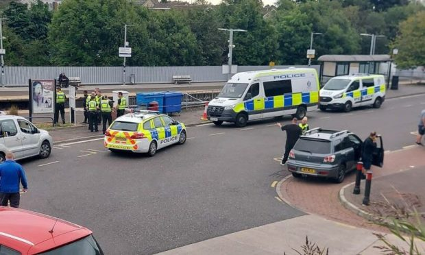 A large police presence was reported by locals. Picture: Sarah Myles