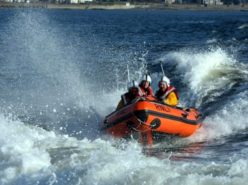 Broughty Ferry inshore lifeboat.