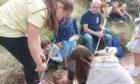 Children enjoying the educational day at Lunan Bay