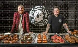 Colin Petrie and Jamie Scott have opened Wrecking Ball Doughnuts