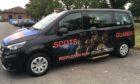 A Scots Guards taxi.
