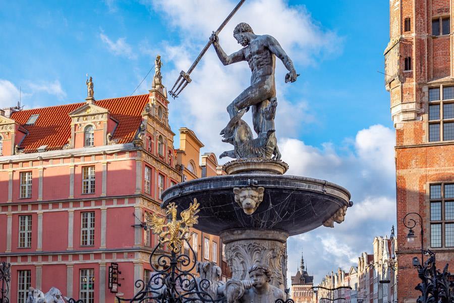 Neptune Fountain, Gdansk.