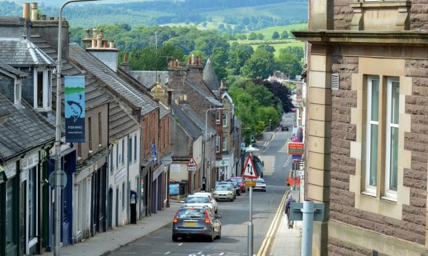 The assaults happened in the centre of Crieff.