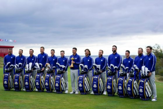 The European team at their photocall at Whistling Straits.