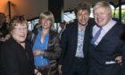 Pictured (L-R): Charlotte Johnson Wahl, sister Rachel Johnson, brother Leo Johnson and Boris Johnson while Mayor of London.