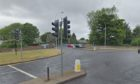 The traffic lights at Victoria Road, Kirkcaldy.