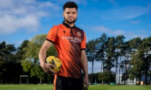 Max Biamou has been brought in to boost striking options at Dundee United.