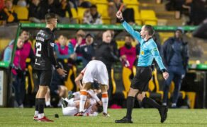 Rangers kid Ben Williamson 'not malicious': Dundee United boss Tam Courts defends red card star
