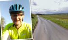 Mike (inset) was involved in an accident on the road between Balgown and Newmiln in Perthshire
