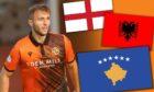 Dundee United star Flo Hoti has chosen to star for Kosovo ahead of England and Albania