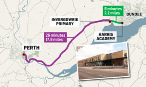 Invergowrie parents have welcomed a proposal which could see their children avoid an hour-long round trip to school.