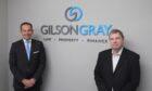 Lindsay Darroch, head of Dundee office of Gilson Gray with Alan Baillie, director of Baillie Shepherd.