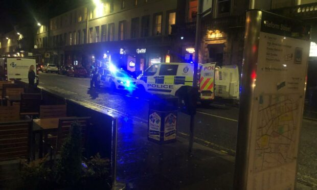 Two men arrested following 'dust-up' on Dundee street