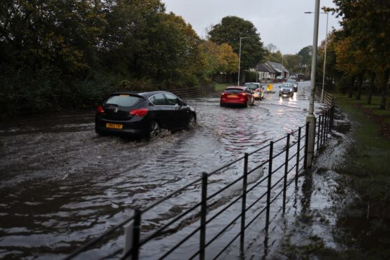 Fife roads flooded after heavy downpours hit overnight