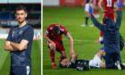 Shaun Byrne was injured against Aberdeen.