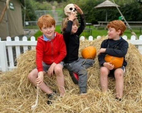 Martel's boys having Halloween fun at Blair Drummond.