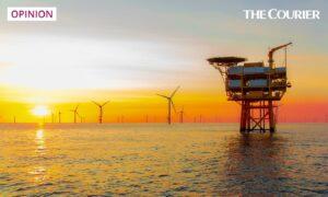 A North Sea offshore wind farm. Shutterstock.
