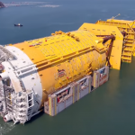 Video: Substructure for the world's largest spar-platform arrives in Sunnhordland