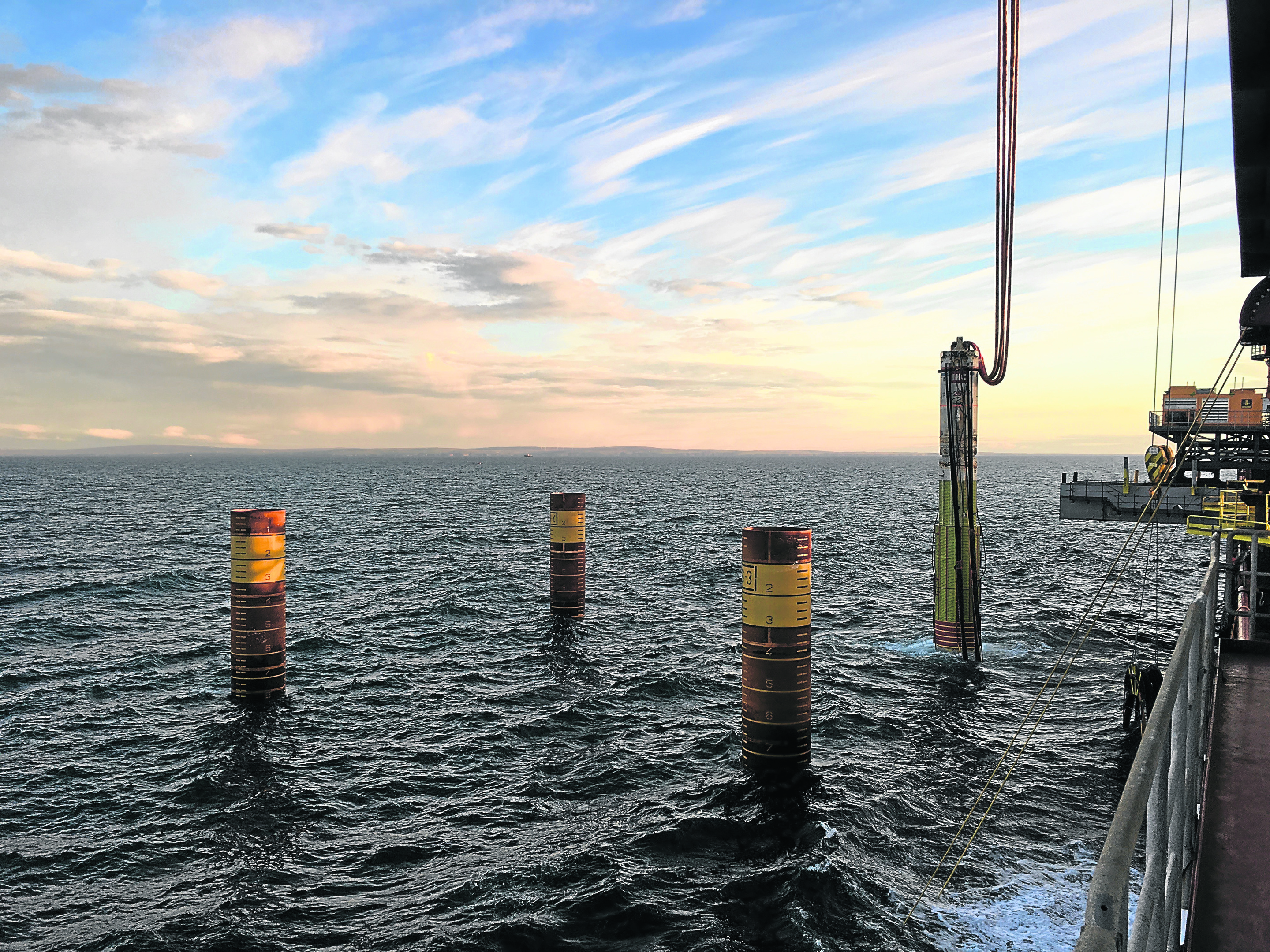 Final piles installed on Beatrice wind farm