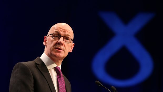 Deputy First Minister John Swinney.