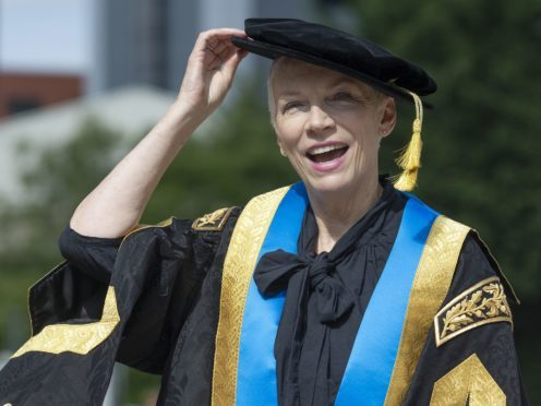 Musician Annie Lennox has been installed as the new Chancellor of Glasgow Caledonian University (Jane Barlow/PA)