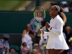 Drake watched Serena Williams at Wimbledon on Tuesday (John Walton/PA)
