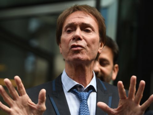 Sir Cliff Richard speaks outside the Rolls Building in London after the ruling (Victoria Jones/PA)