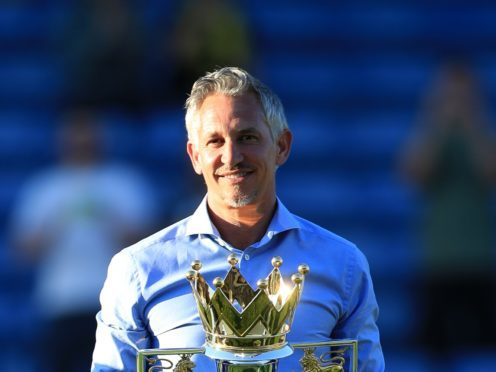 Gary Lineker with the Premier League trophy (John Walton/PA)