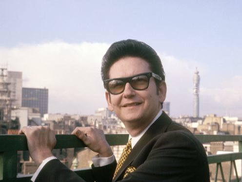 American singer Roy Orbison pictured on a roof top in London (PA)