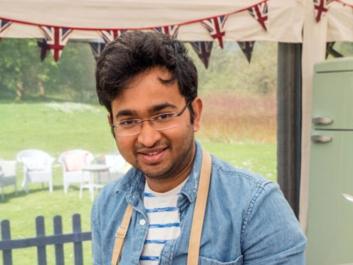 Bake Off finalist Rahul missed trip home to India for the show (Mark Bourdillon/Love Productions)