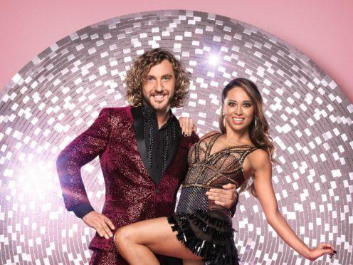 Strictly Come Dancing's Seann Walsh with his dance partner Katya Jones (Ray Burmiston/BBC)