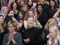 Rosamund Pike led a mass female filmmaker event to highlight women in film (Stefan Rousseau/PA)