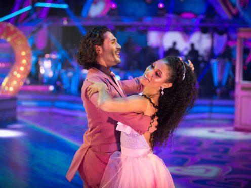 Graziano Di Prima and Vick Hope. (Guy Levy/BBC/PA)