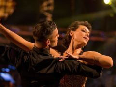 Kate Silverton and her dance partner Aijaz Skorjanec on last week's Strictly Come Dancing (BBC/PA)