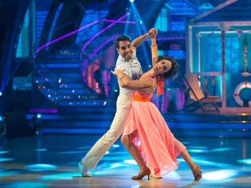 Dr Ranj Singh and his dance partner Janette Manrara on Strictly Come Dancing (BBC/PA)