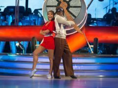 Danny John-Jules and his dance partner Amy Dowden (Guy Levy/BBC)