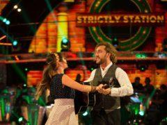 Seann Walsh and his dance partner Katya Jones. (Guy Levy/BBC)