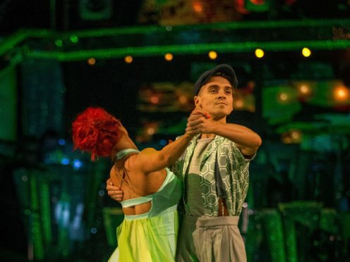 Joe Sugg and his dance partner Dianne Buswell (Guy Levy/BBC)